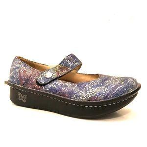 Algeria Blue Purple Mary Jane Comfort Shoes 37